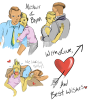 Happy Early Valentine's Day from Alistair and Bryn by IdanCarre