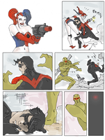 Harley quinn comic strip (page 2) by electronicdave