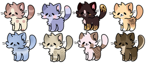 Sweet cats adoptables -closed- by YanixAdopts