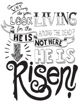 He is Risen - hand lettering by Emberblue