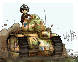 French Char B1 Bis by Arjay-the-Lionheart