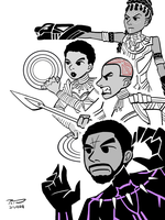 We Fight for Wakanda - Black Panther by PioTendero