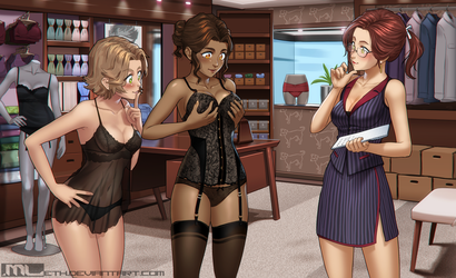 Commission - Lingerie Shop by MLeth