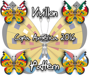 Vivillon Copa America 2016 pattern (Request) by Starfighter-Suicune