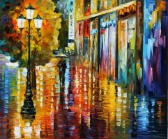 Umbrella by Leonid Afremov by Leonidafremov