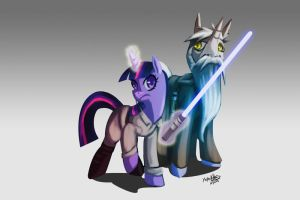 Apprentice and master by YeyeiAlba