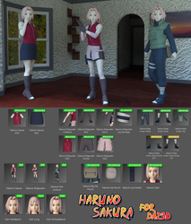 Haruno Sakura Shippuden for G8F by Shinteo