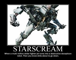 Starscream demotivational by jedijaffy14