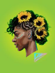 sunflower girl by P-May-The-Great