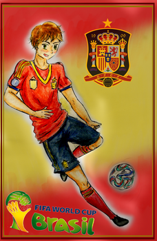 World Cup Hetalia, Spain by G-Angely09