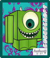 Mike Wazowski Cubeecraft by angelyques
