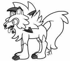 Request #5: Lycanroc by Picklecakes