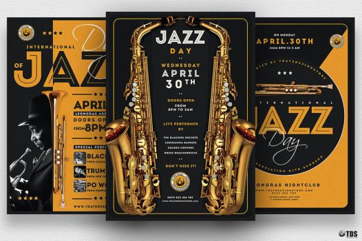 Jazz Day Flyer Bundle by Thats-Design