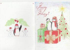 Christmas Penguins by getupp
