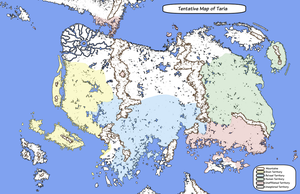 Tentative Map of Taria by TitusWeiss