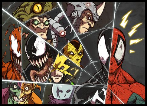 spiderman villains version 1 by Anny-D