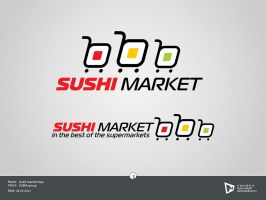Sushi market logo by xplight