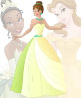 disney fusion: Belle and Tiana by Willemijn1991