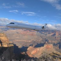 Bombardier CRJ-705 Over a Canyon by VanishingPointInc