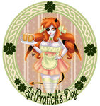 St Patty's Beer Maid by HaruShadows