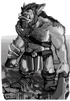 Bugbear Dungeons and Dragons Monster Manual by zelldweller