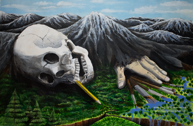 Painting The World [Acrylic Painting] by Adam-The-Person