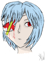 Rei Ayanami by MontyP