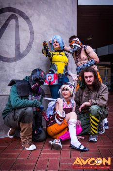 Borderlands Cosplay Group by Splicer02