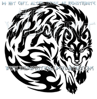 Wolven Spirit Warrior Tribal Design by WildSpiritWolf