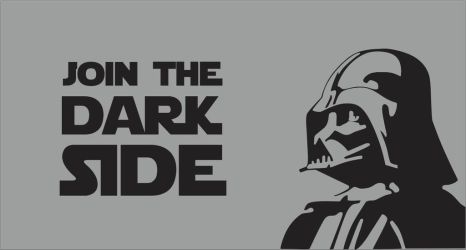Join The Dark Side Darth Vader Flag by OSFlag