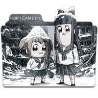 Pop Team Epic Folder Icon 3 by P0Br3