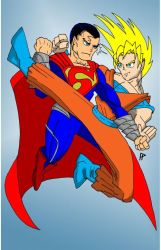 SUPERMAN V SUPER SAYAN GOKU by Peter-Sefcik