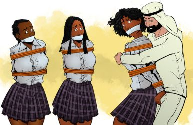 School Girls Bound and Gagged by TheRafaLee