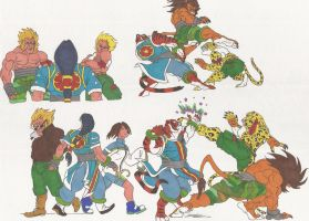Bloody Roar_doodles_20nov2012 by AlexBaxtheDarkSide