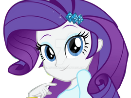 EQG Rainbow Rocks Rarity Looking Adorable Vect by ABToons