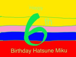 Hatsune Miku 6th Birthday by BenBandicoot