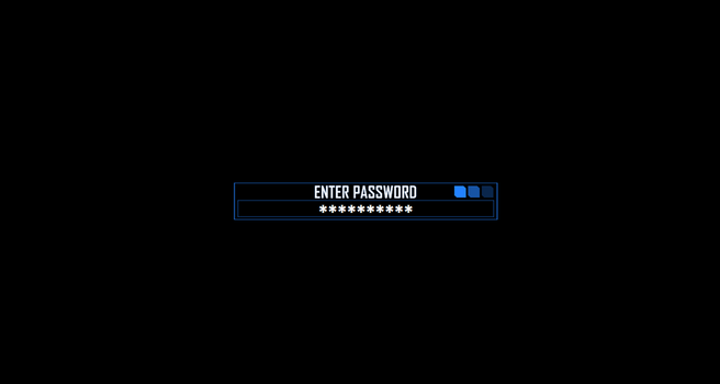 Password Protected Rainmeter by BlueWolf-Productions