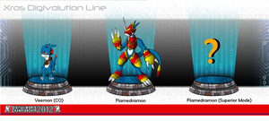 DWC Xros Digivolution Line: Veemon (CO) by DarkPrognosticus