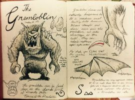 Gravity Falls Journal 3 Replica - Gremloblin page by leoflynn