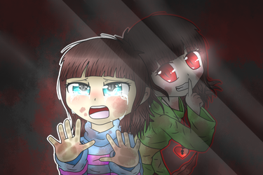 Frisk And Chara-Who said you were in control by CutiePachiMelody