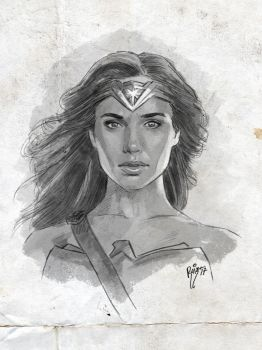 JUSTICE LEAGUE - WONDER WOMAN by RUIZBURGOS
