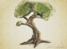 Watercolor Tree by CaiusNelson