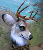 Timber Stag Closeup by LilleahWest
