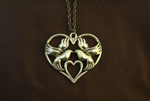 Dove Love Necklace by MonsterBrandCrafts