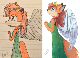 REDRAW: Winged Princess by MetalPandora