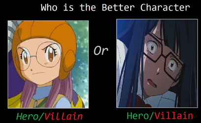 Who's The Better Character Meme: Yolei Or Meiko? by TheRisenChaos