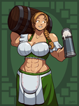 Muscle Barmaid by Blazbaros
