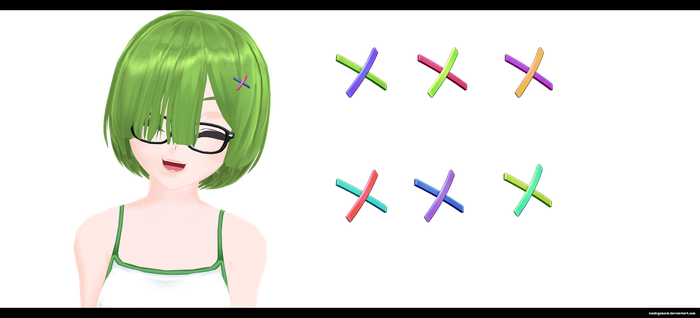 MMD: Double Hair Clip by kaahgomedl