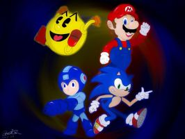 The Retro Four by outerbluefox