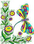 Coloring Page Dragonbutterfly By Anbeads by Creaciones-Jean